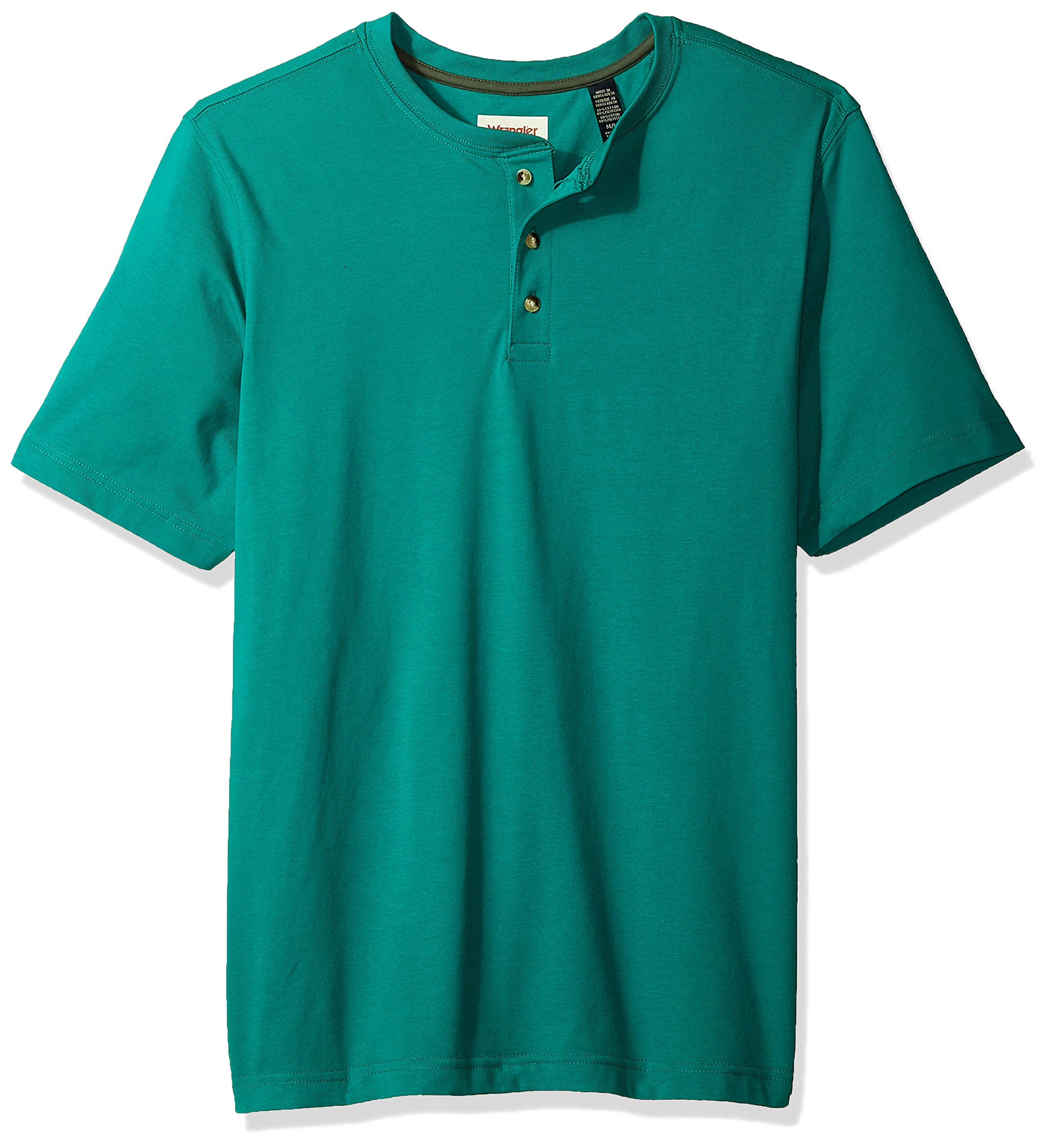 Wrangler Authentics Men's Big & Tall Short Sleeve Henley Tee, Quetzal Green, XL by Wrangler