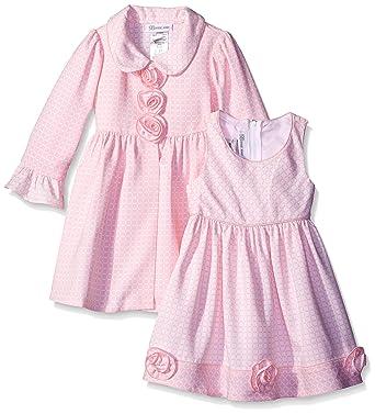 799c19d75 Amazon.com  Bonnie Jean Girls  Check Jacquard Dress and Coat Set ...