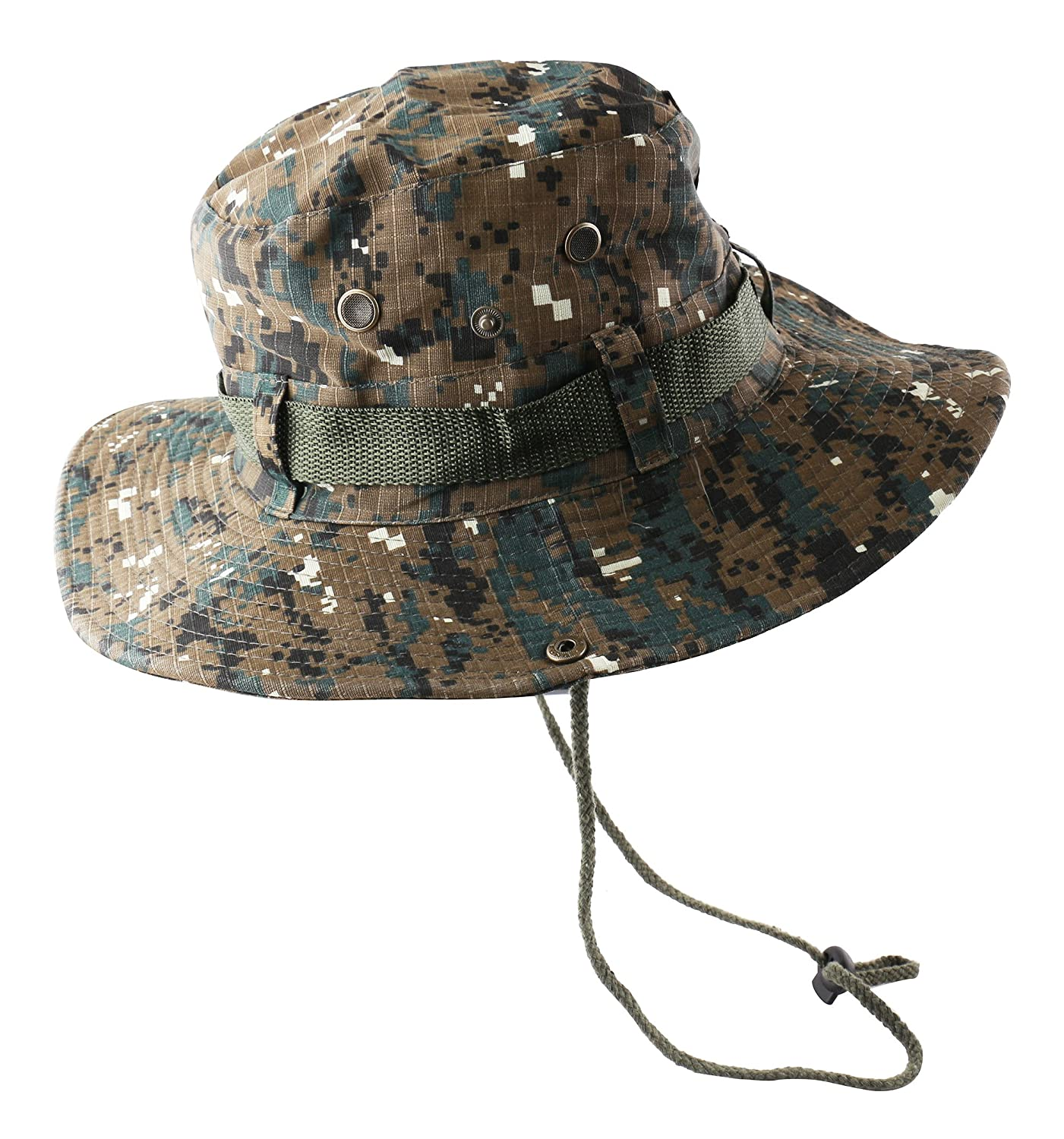 9904679c8e1 Camouflage Bucket Hats Wide Brim Sun Fishing Bucket Hat (Brown Camo) at Amazon  Men s Clothing store