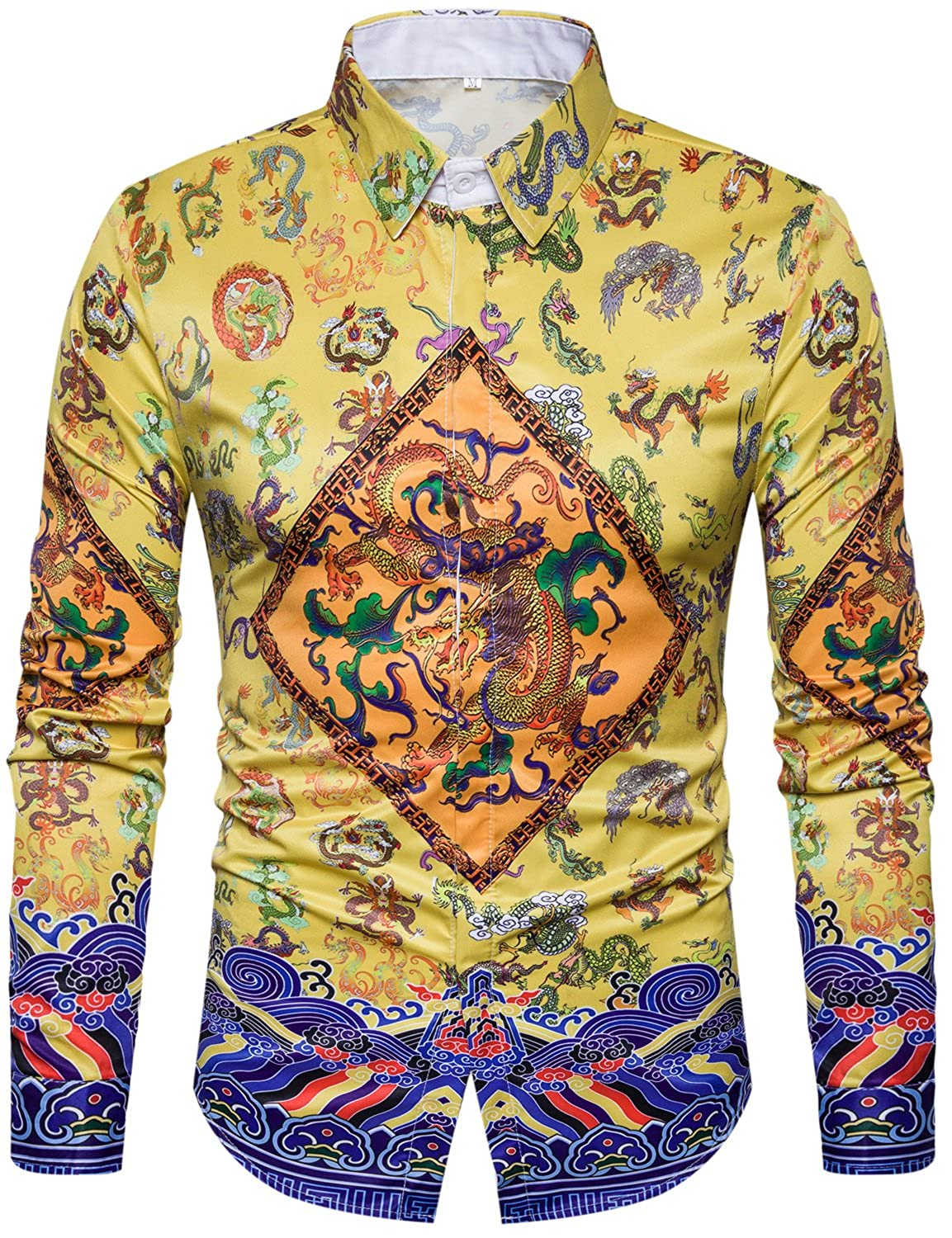 Double-side Printed 3D Digital Printing Multicoloured Design inspiration   Ancient China Emperor Robes Chinese Dragon  Luxury Palace Royal Court 6c8816939