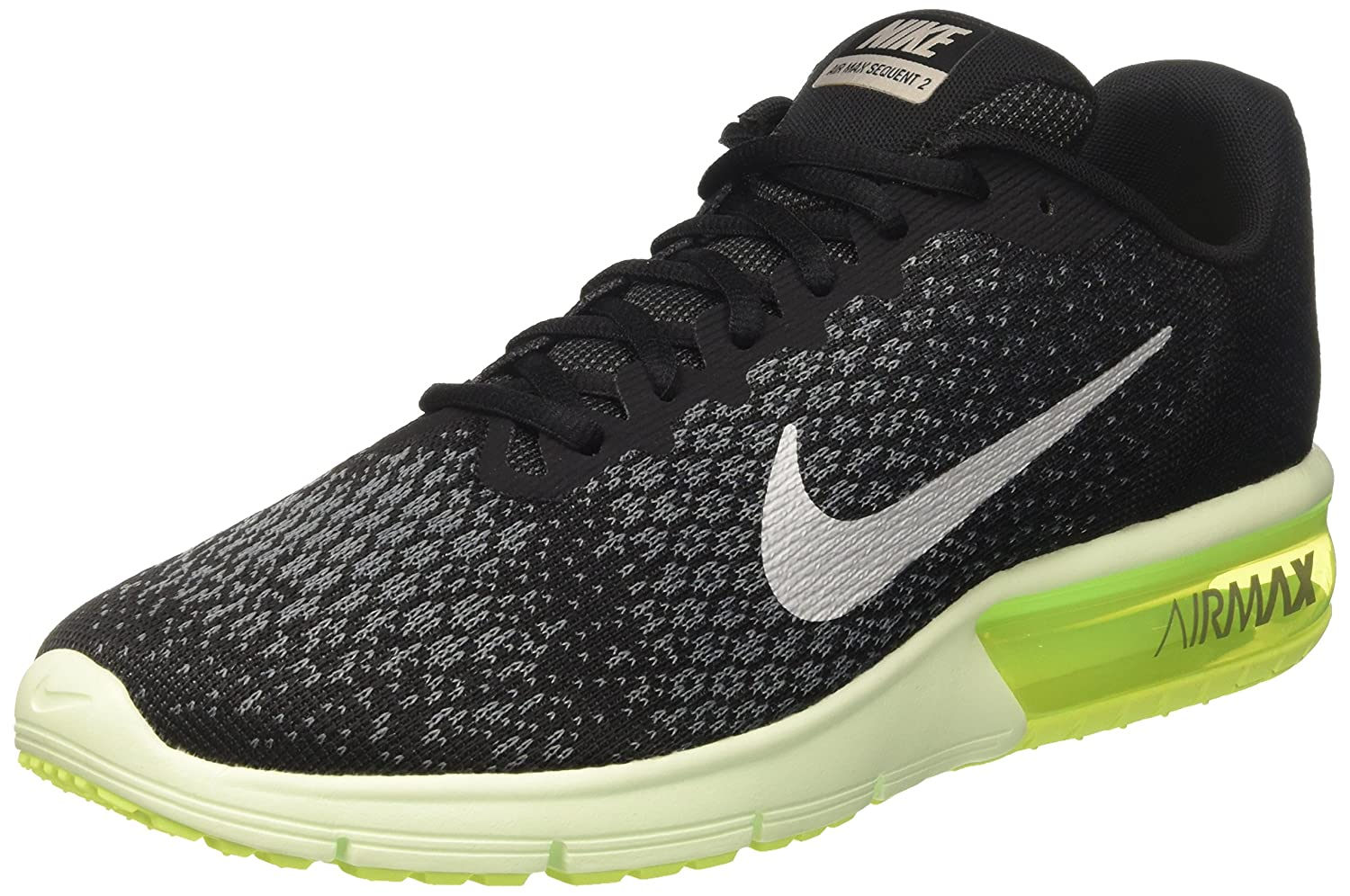 Nike Air Max Sequent 2, Zapatillas de Running para Hombre 45 EU|Negro (Black/Anthracite/Metallic Cool Grey)