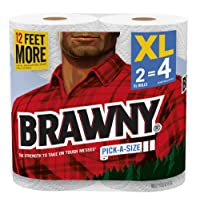 Brawny® Paper Towels, Pick-A-Size, 2 XL Rolls (Packaging May Vary)