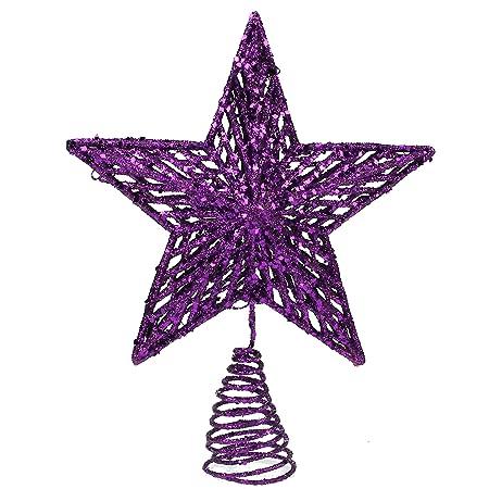 small purple christmas tree topper 15cm - Small Purple Christmas Tree
