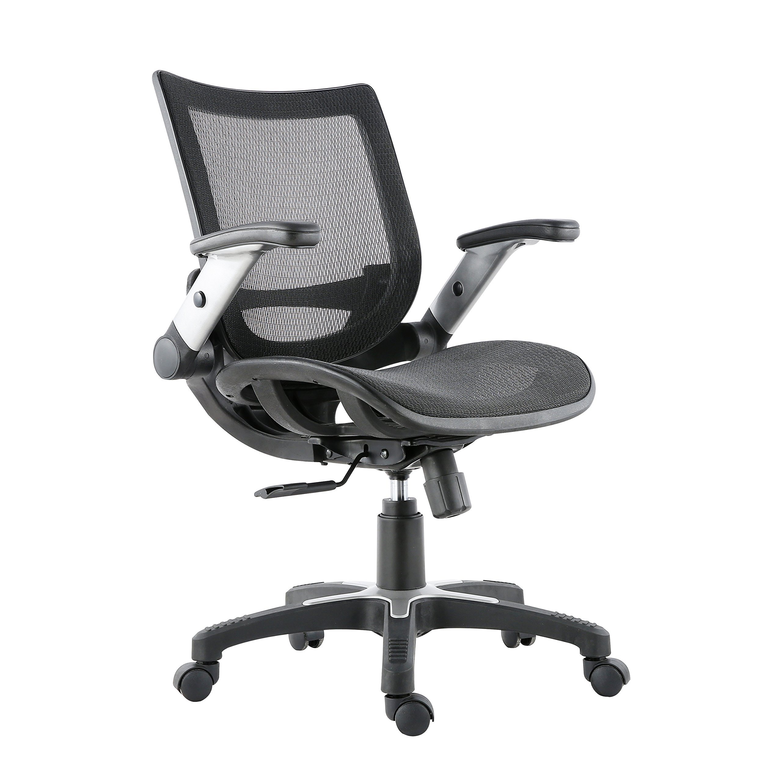 Poly and Bark Karlen Office Chair in Mesh, Black by POLY & BARK