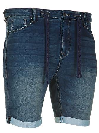 07ed72d3b218 Sublevel Herren Jogg Jeans Shorts Denim kurze Hose JoggJeans Bermuda Sommer   Amazon.de  Bekleidung