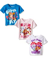 Nickelodeon Paw Patrol Girls' Multi Pack T-Shirt
