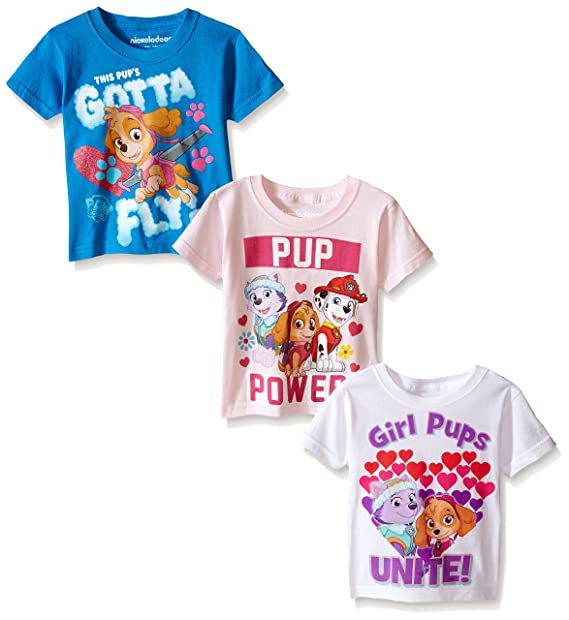 ce95a22b1 Amazon.com: Paw Patrol Girls' Multi Pack T-Shirt by Nickelodeon ...