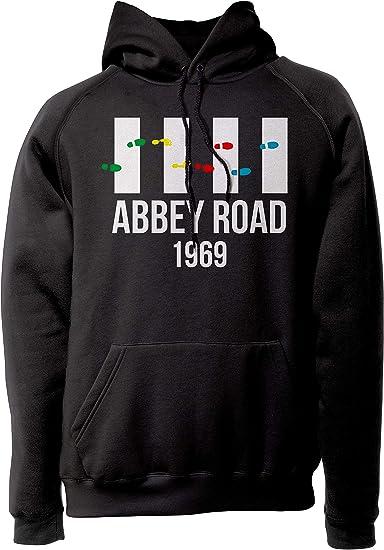 LaMAGLIERIA Sudadera Unisex The Beatles - Abbey Road 1969 - Sudadera con Capucha Rock Band