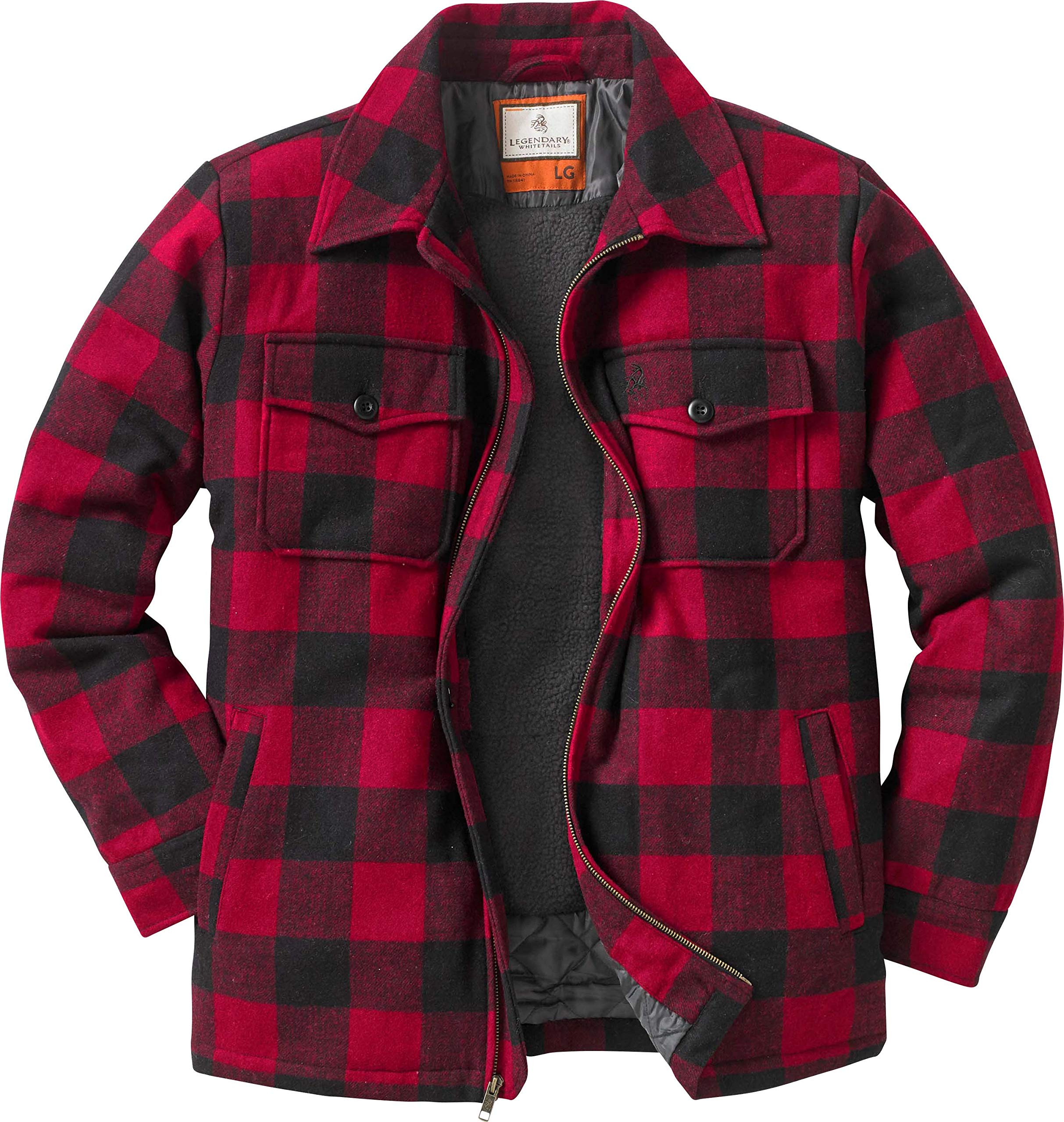 Legendary Whitetails Outdoorsman Jacket, Buffalo Plaid, XXXXX-Large by Legendary Whitetails