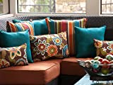 Pillow Perfect Outdoor Rave Teal Throw