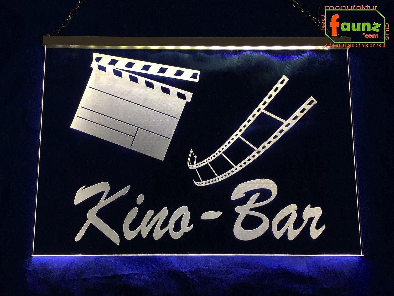 LED Cartel de cine Bar Blanco o su diseño texto publicitario ...