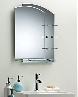 Stylish Bathroom Mirror Double Layer With Shelves   2 Sizes 70cm X 50cm And  60cm X