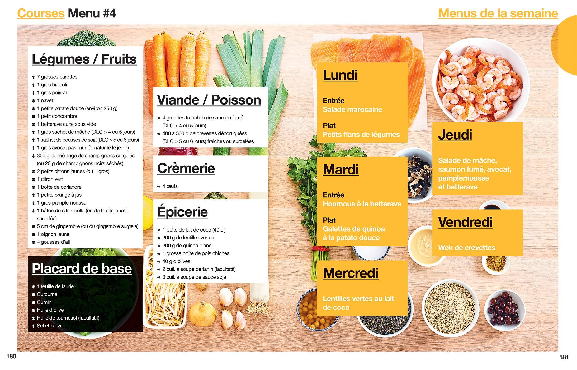 En 2h Je Cuisine Light Pour Toute La Semaine French Edition