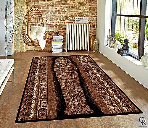 Pharaoh Ancient Egypt King Tut Egyptian Carpet Area Rug 5 3 X 7 5