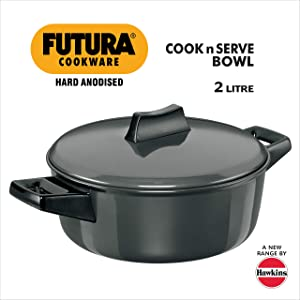 Hawkins/Futura L62 Hard Anodised Cook and Serve Stewpot/Bowl, 2-Liter