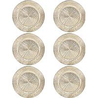 Platos de plástico para Navidad, 33 cm Gold