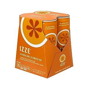 IZZE Sparkling Juice, Clementine, 8.4 oz Cans, 4 Count