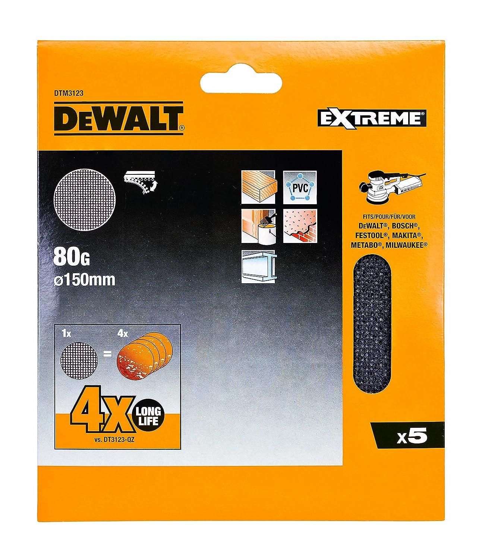 Set de 5 Piezas 150mm Dewalt DTM3123-QZ Disco de lija de malla 150 mm