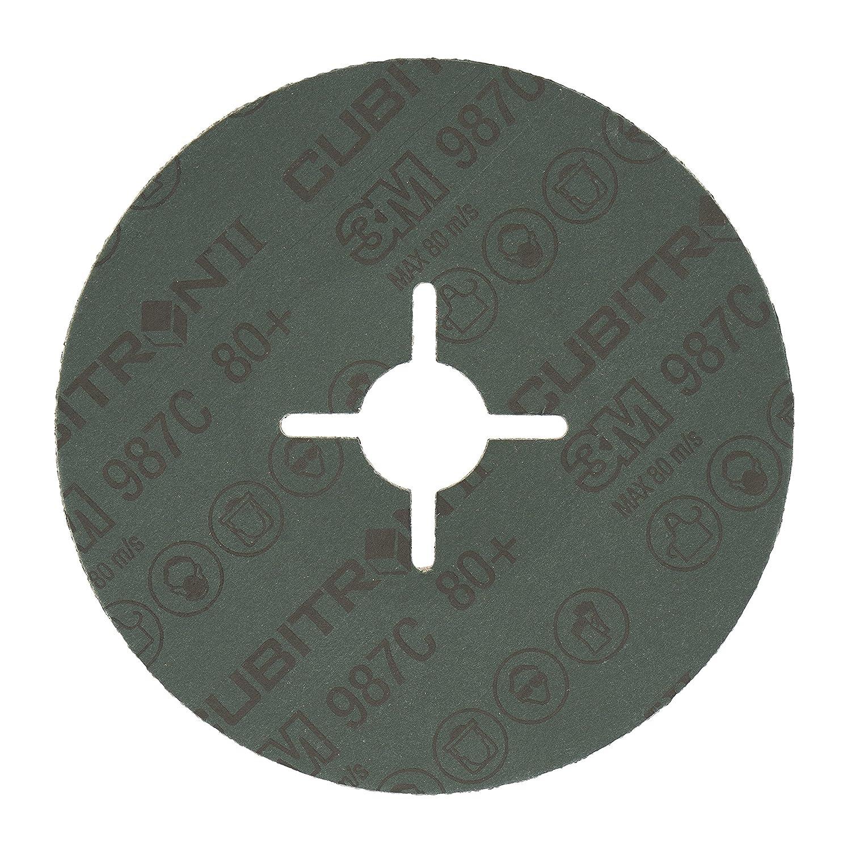 flach 22,23 mm 115 mm 10 St/ück // Karton 40+ 3M/™ Cubitron/™ II F/ächerschleifscheibe 967A