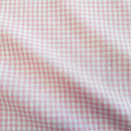 Stof Tela por Metros Vichykaro Vichy Rosa Blanco Cuadros algodón ...