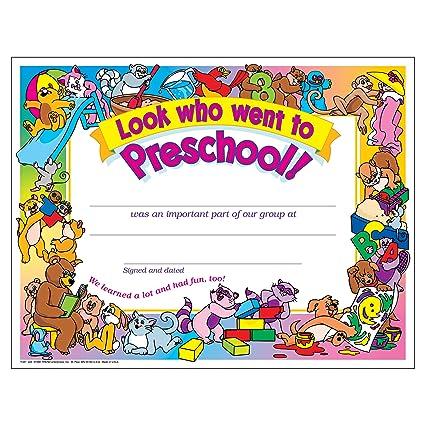 Amazon.com : Look Who Went To Preschool! Certificate (30 Pack ...