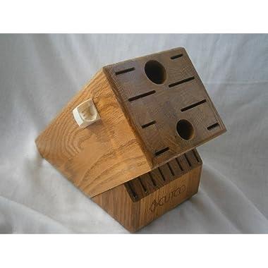 CUTCO Wooden Knife Block Storage Holder - HOMEMAKER + 8 Honey Oak Wood 18 Slot #1748