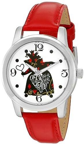 Disney de la mujer de Alicia en el país de las maravillas de cuarzo Metal reloj