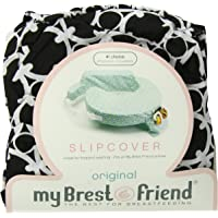 My Brest Friend 100% Cotton Nursing Pillow Original Slipcover – Machine Washable Breastfeeding Cushion Cover - Pillow not Included, Black & White Marina