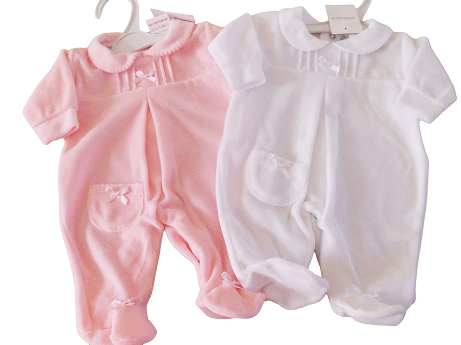 f2a17f4f9 BNWT Exclusive to Kiddiewinks Premature Preemie Baby girls velour ...