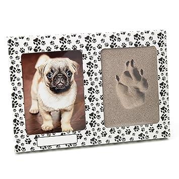 pet imprint pfotenabdruck 3d set formschaum grau hund, katze bilderrahmen aus kartonage mit pfötchen ohne gips  hund katze und maus in szene gesetzt #14