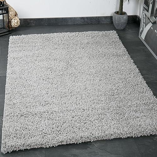 vimoda prime poils longs shaggy tapis longs poils haut velours tapis modernes pour salon chambre - Tapis Gris