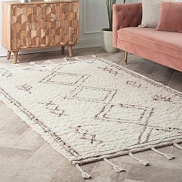 Amazon.com: nuLOOM Twist Moroccan Shag Rug, 5 x 8, Beige ...