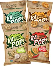 Ka-Pop! Popped Chips, Variety Pack (3.25oz, Pack of 4) - Allergen Friendly, Ancient Grains, Gluten-Free, Paleo, Non-GMO, Vega