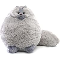 Winsterch-AU Stuffed Cats Plush Animal Toys Kids Gifts Baby Doll, Pillow for Bed Sofa, Gray Cat Plush 30cm