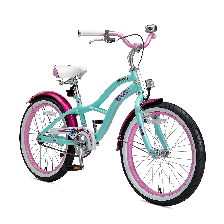 BIKESTAR元プレミアム安全スポーツ子供用バイク自転車Sidestand and Accessories for Age 6年古い子供| 20インチクルーザーEditionのガールズ| Pepperミント&ピンク B0722ZRMFB