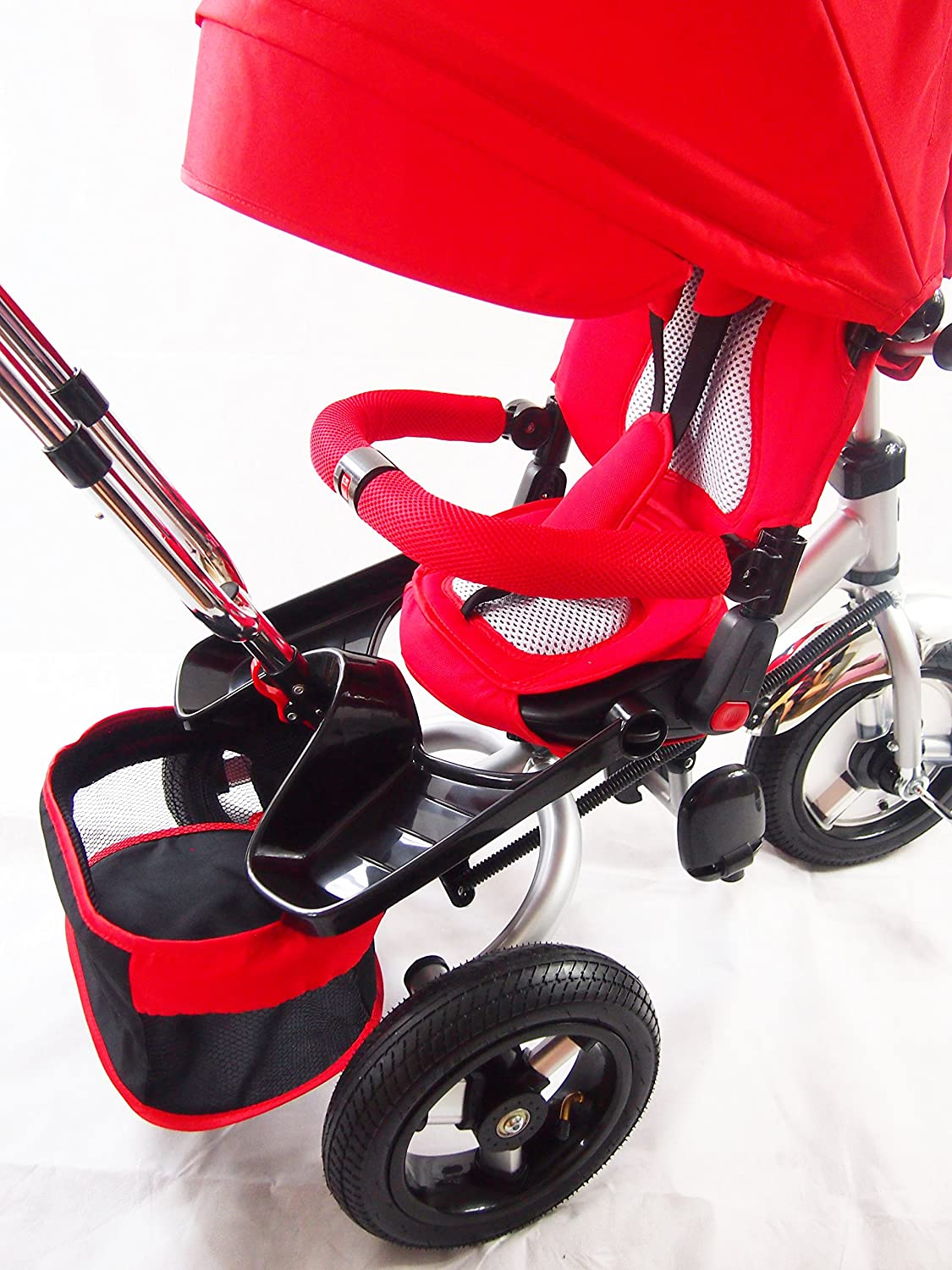 Accessory for Scooters and Motorcycles with Rubber Wheels Dantoy Kids Sit /& Ride Toy Trailer Made in Denmark