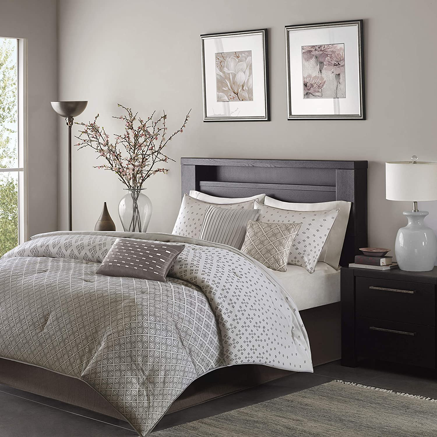Madison Park Biloxi 7 Piece Comforter Set Silver Cal King