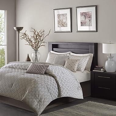 Madison Park Biloxi 7 Piece Comforter Set Silver King