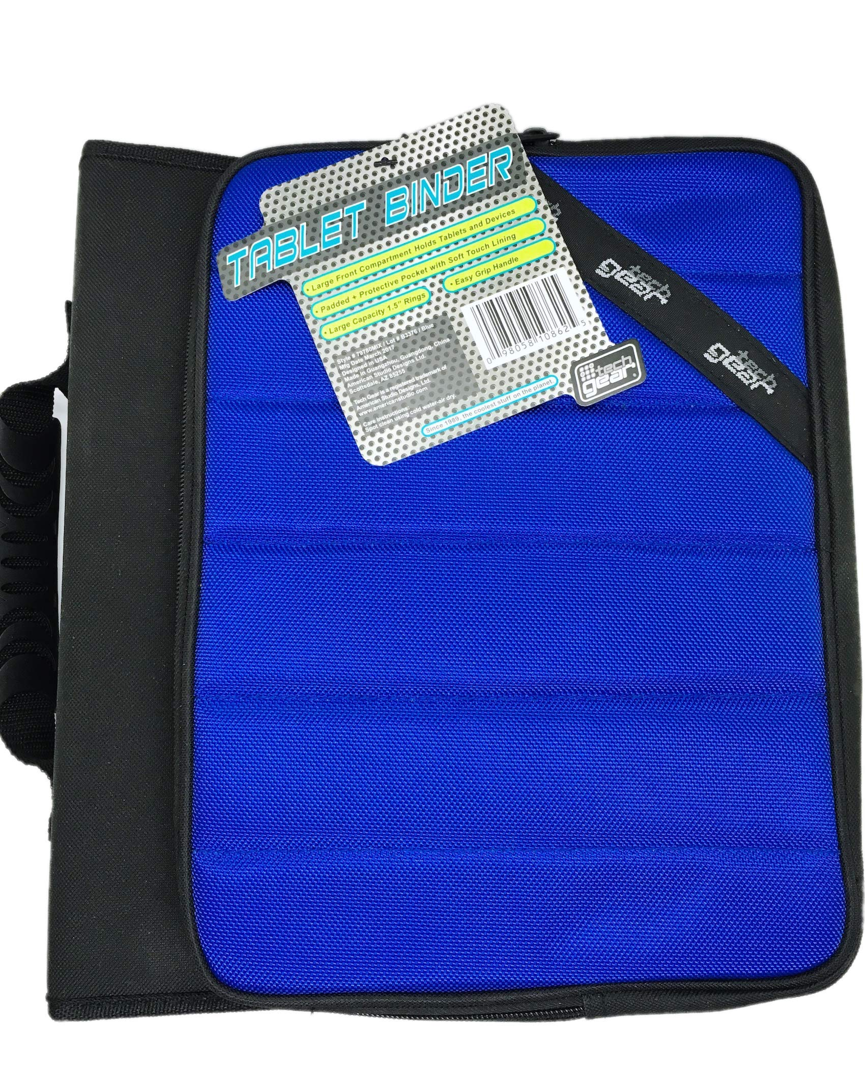 Tech Gear 1.5'' Rings Protector Tablet Binder (Assorted Colors) (Blue)