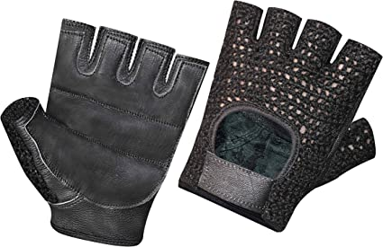 Men Weight Lifting Wheelchair Gloves Padded Leather Workout Fitness Crochet