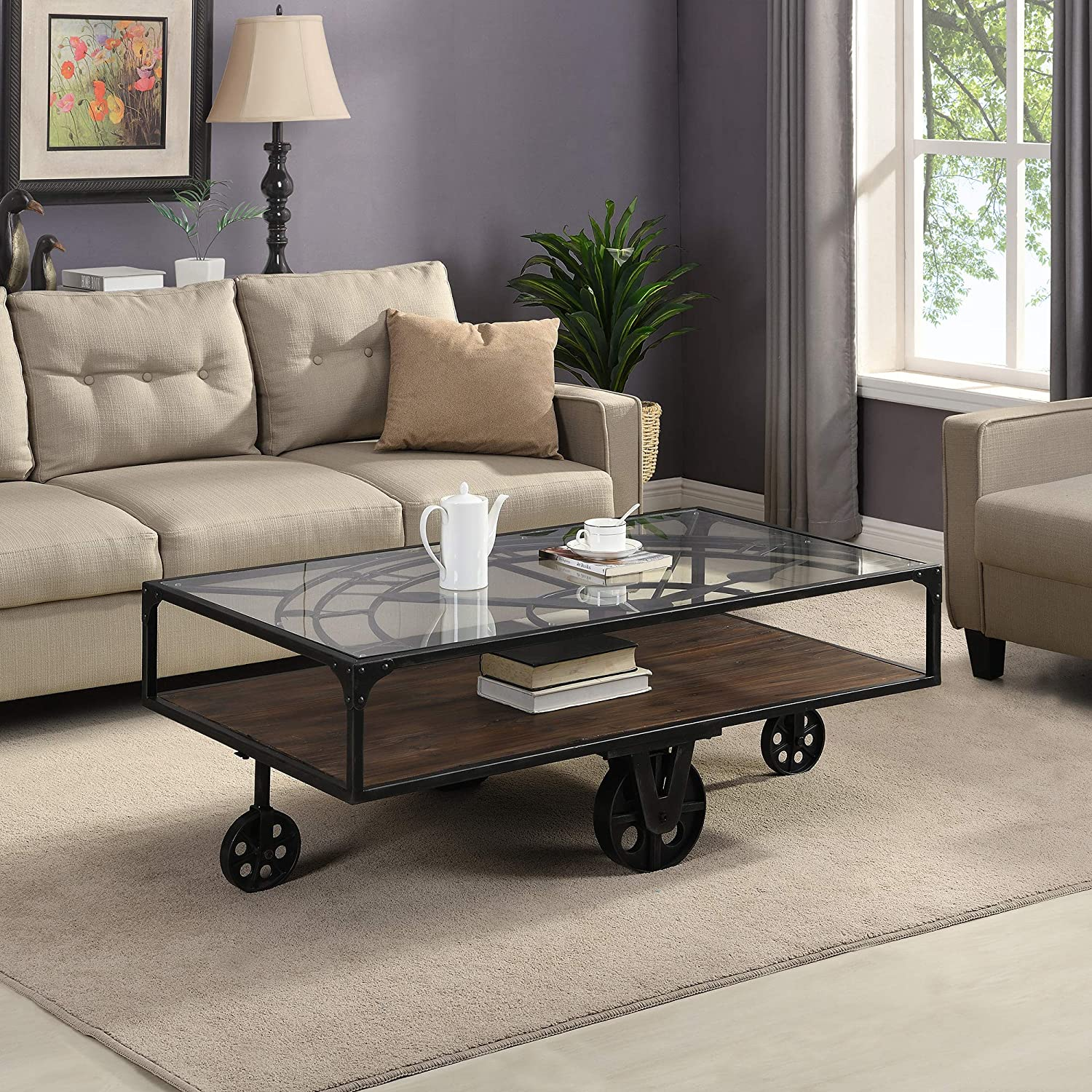 - Amazon.com: FirsTime & Co. Clock Tower Coffee Table, American