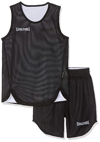 Spalding Doubleface Kids Set, Conjunto reversible camiseta y pantalones de baloncesto para Unisex-Niños