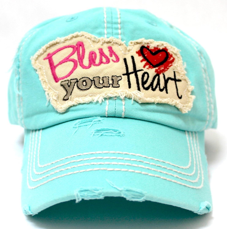 CAPS  N VINTAGE Women s Ballcap Bless Your Heart Patch Hat 455a022a591