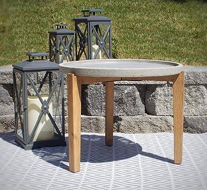 Side Table Bali Style.Amazon Com Pebble Lane Living Bali Cement Earth Round Side