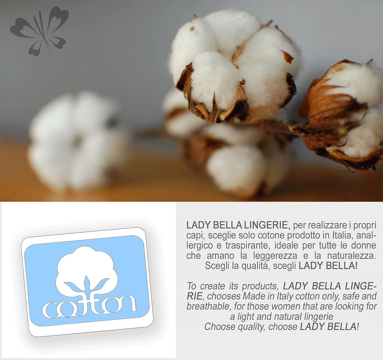 Lady Bella Lingerie Mamma Mia P0226 Guaina Gravidanza in Cotone Elasticizzato Made in Italy Pancera di Sostegno Contenitiva con Fascia di Sostegno su Pancia e Supporto Lombare by