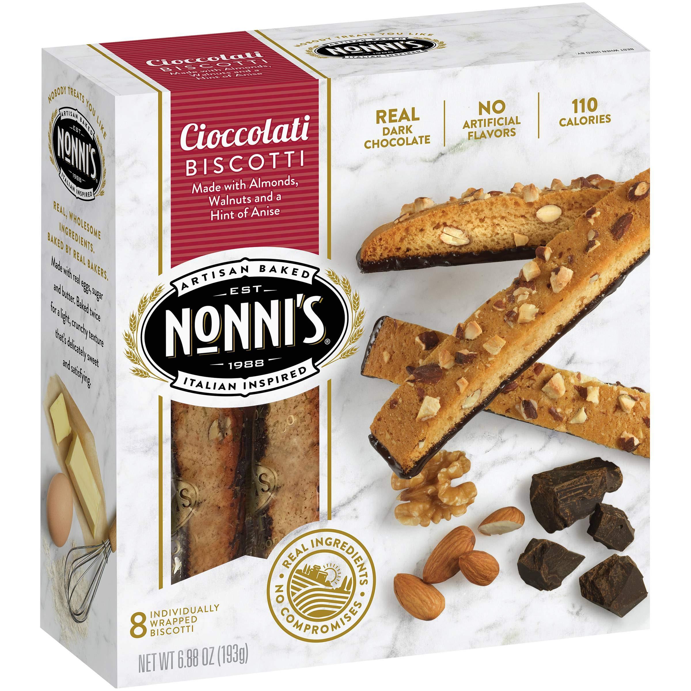 Nonni's Biscotti Cioccolati 8 ct (Pack of 12)