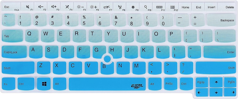 Keyboard Cover for Thinkpad E14 L14 T470 T480 T480S T490 T490s T495 T495s T14 T14s E480 E485 E490 E495, Thinkpad P14s P43s, Thinkpad X1 Carbon 2019 2020, X1 Yoga 2019 2020 Laptop - Gradual Blue