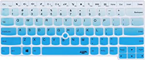 Keyboard Cover for Thinkpad E14 L14 T470 T480 T480S T490 T490s T495 T495s T14 T14s E480 E485 E490 E495, Thinkpad P14s P43s, Thinkpad X1 Carbon 2019 2020, X1 Yoga 2019 2020 Laptop - Gradual Blue