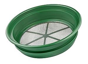 "SE GP2-18 Patented 13-1/4"" Stackable Sifting Pan, 1/8"" Mesh Screen"
