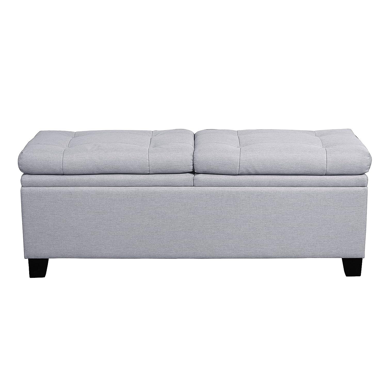Design Bedroom Bench amazon com pulaski curtis storage upholstered bed bench trespass marmor kitchen dining